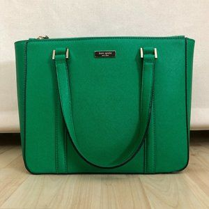 Kate Spade Green Leather Satchel New W/O Tags